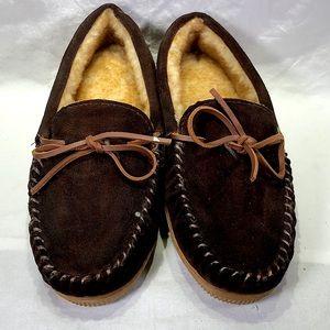 Men's Taramac  Brown Suede Camp Moc-Size 10